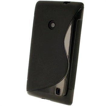 Nokia Lumia 520 iGadgitz S-Linja TPU-Suojakotelo Musta