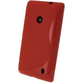 Nokia Lumia 520 iGadgitz S-Linja TPU-Suojakotelo Punainen