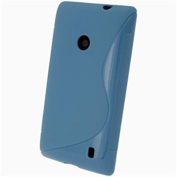 Nokia Lumia 520 iGadgitz S-Linja TPU-Suojakotelo Sininen