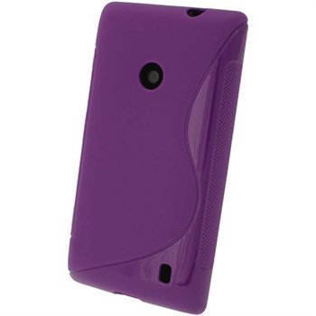 Nokia Lumia 520 iGadgitz S-Linja TPU-Suojakotelo Violetti
