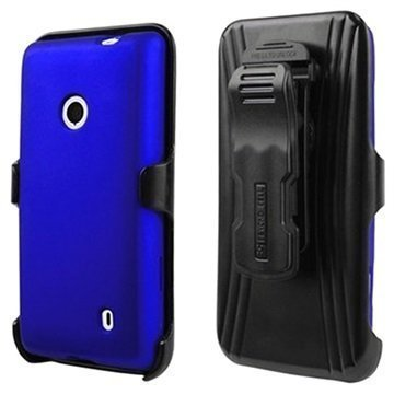 Nokia Lumia 521 Beyond Cell Cell 3in1 Combo Cover Blue / Black