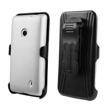 Nokia Lumia 521 Beyond Cell Cell 3in1 Combo Cover Silver / Black