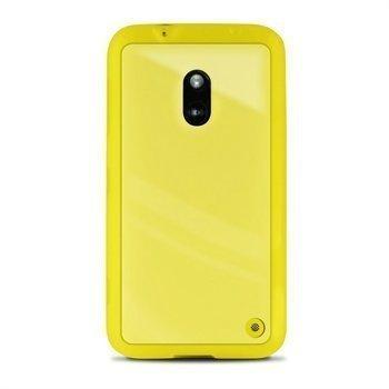 Nokia Lumia 620 Puro Clear Suojakotelo Keltainen