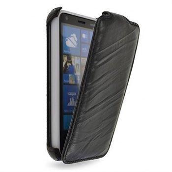 Nokia Lumia 620 StarCase Roma Linea Nahkainen Läppäkotelo Musta
