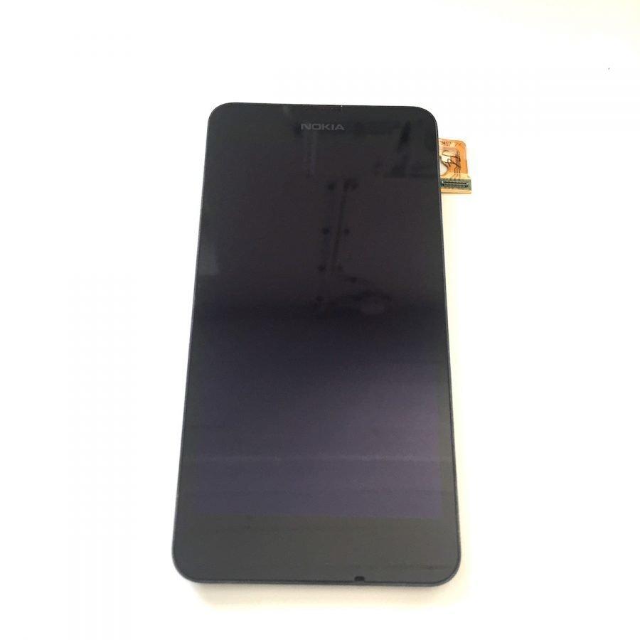 Nokia Lumia 630 / 635 alkuperäinen LCD + kosketuspaneeli etulasi kehyksellä