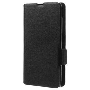 Nokia Lumia 630 Doormoon Wallet Nahkakotelo Musta