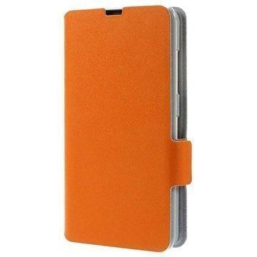 Nokia Lumia 630 Doormoon Wallet Nahkakotelo Oranssi