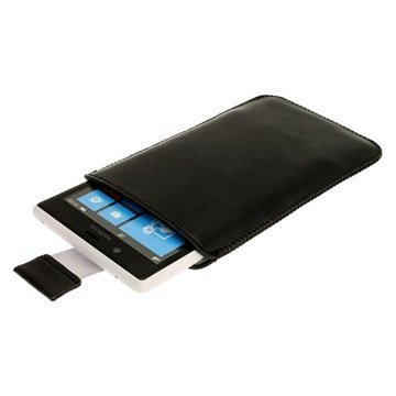 Nokia Lumia 720 iGadgitz Leather Case Black