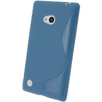 Nokia Lumia 720 iGadgitz S-Linja TPU-Suojakotelo Sininen