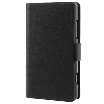Nokia Lumia 820 Doormoon Wallet Nahkakotelo Musta