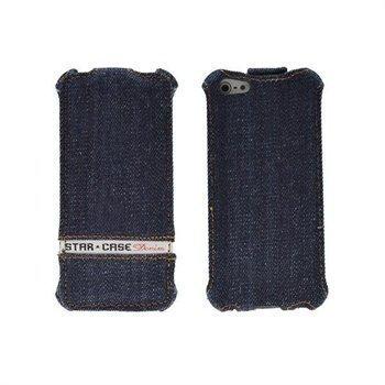 Nokia Lumia 820 StarCase Roma Flip Case Jeans Denim Blue