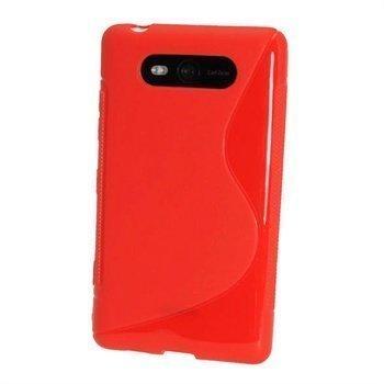 Nokia Lumia 820 iGadgitz Kaksivärinen TPU-Suojakotelo Punainen