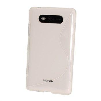Nokia Lumia 820 iGadgitz Kaksivärinen TPU-Suojakotelo Vaalea
