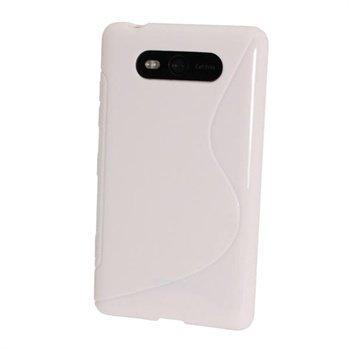 Nokia Lumia 820 iGadgitz Kaksivärinen TPU-Suojakotelo Valkoinen