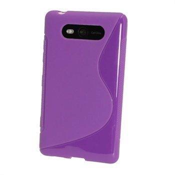 Nokia Lumia 820 iGadgitz Kaksivärinen TPU-Suojakotelo Violetti