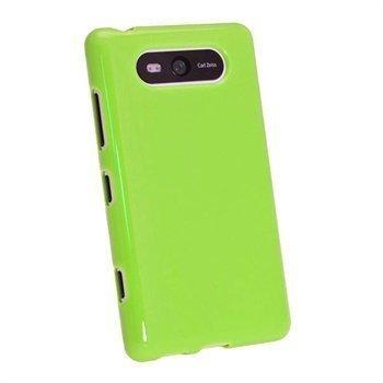 Nokia Lumia 820 iGadgitz Kiiltävä TPU-Suojakotelo Vihreä
