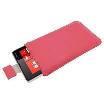 Nokia Lumia 820 iGadgitz Nahkakotelo Pinkki