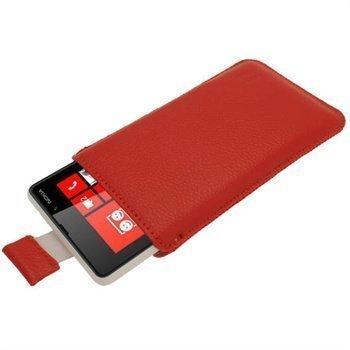 Nokia Lumia 820 iGadgitz Nahkakotelo Punainen