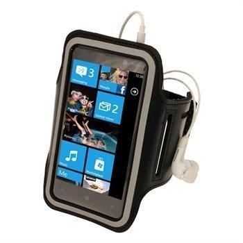 Nokia Lumia 820 iGadgitz Neopreeni Käsivarsikotelo Musta