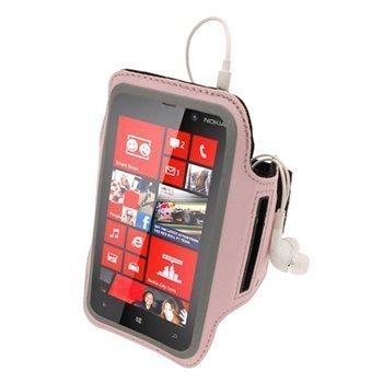 Nokia Lumia 820 iGadgitz Neopreeni Käsivarsikotelo Pinkki