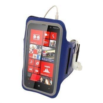 Nokia Lumia 820 iGadgitz Neopreeni Käsivarsikotelo Sininen