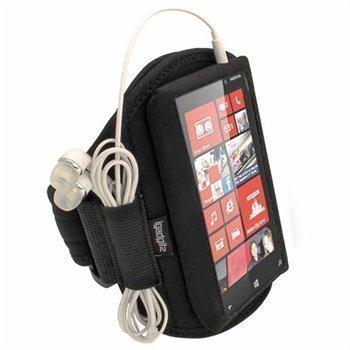 Nokia Lumia 820 iGadgitz Neoprene Armband Sports Jogging Black