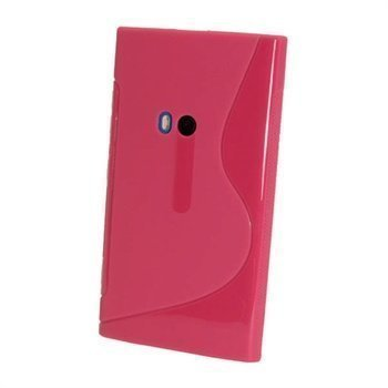 Nokia Lumia 920 iGadgitz Kaksivärinen TPU-Suojakotelo Tumma Pinkki