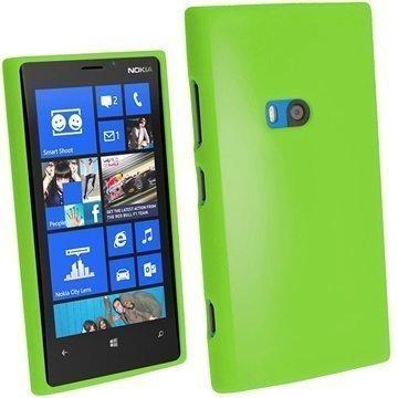 Nokia Lumia 920 iGadgitz Kiiltävä TPU-Suojakotelo Vihreä