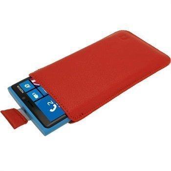 Nokia Lumia 920 iGadgitz nahkakotelo punainen