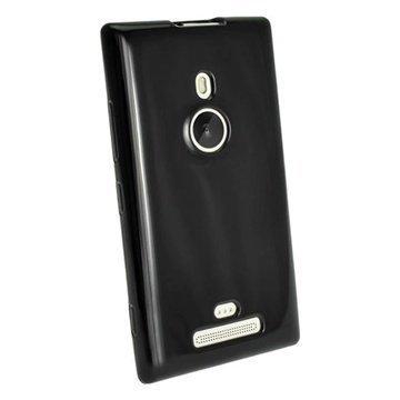 Nokia Lumia 925 iGadgitz Crystal TPU-Kotelo Musta