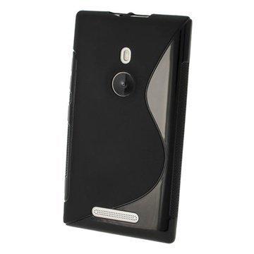 Nokia Lumia 925 iGadgitz S Line Crystal TPU-Kotelo Musta