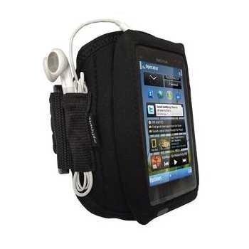 Nokia N8 iGadgitz Käsivarsikotelo Musta