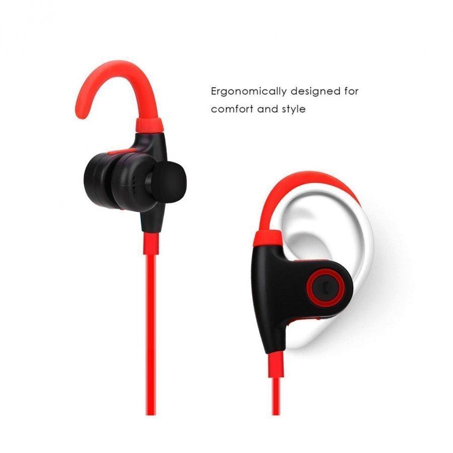 Nwest Langattomat Koukku Bluetooth Kuulokkeet Mikrofonilla Punainen / Musta