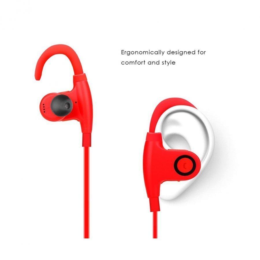 Nwest Langattomat Koukku Bluetooth Kuulokkeet Mikrofonilla Punainen