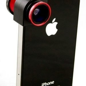 Olloclip 3-In-One camera lens for iPhone 5 Red