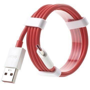OnePlus USB C-Tyypin Kaapeli Punainen / Valkoinen