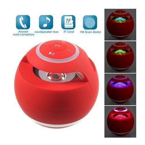 Pallomainen Yst-185 Mega Basso Bluetooth Kaiutin Taskulampulla Punainen