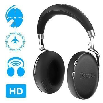 Parrot Zik 3 Bluetooth Stereokuulokkeet Musta Nahka