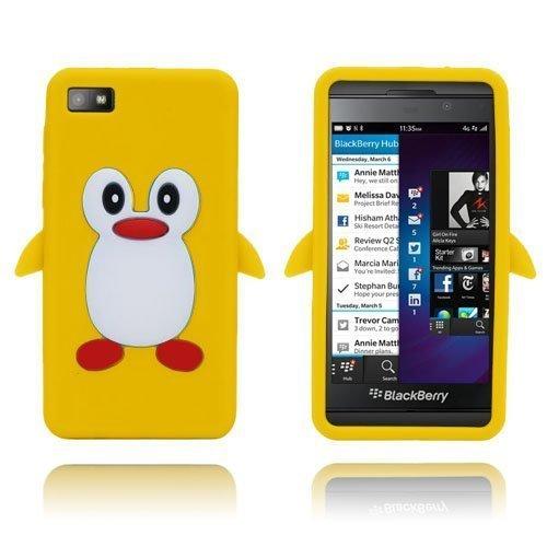 Penguin Keltainen Blackberry Z10 Suojakuori