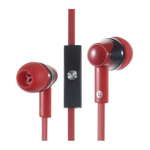 Phw-203 Korvanappikuulokkeet Mikrofonilla Älypuhelimille Punainen