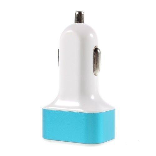 Pinzun 3.1a 3-Porttinen Universaali Usb Autolaturi Sininen