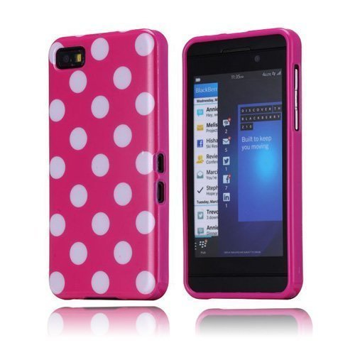 Polka Dots Pinkki Blackberry Z10 Suojakuori