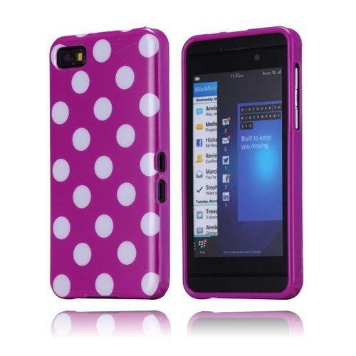 Polka Dots Violetti Blackberry Z10 Suojakuori