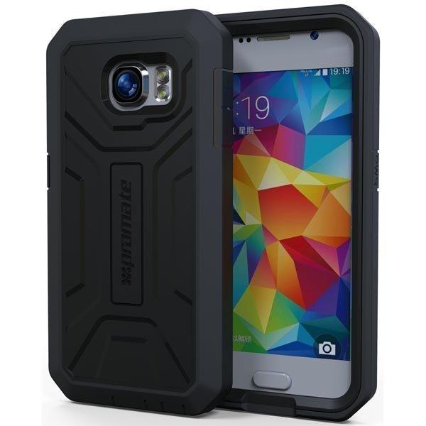 Promate Armor-S6 Kokosuojaava kuori Samsung Galaxy S6 musta