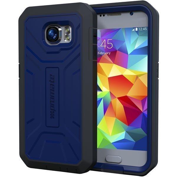 Promate Armor-S6 Kokosuojaava kuori Samsung Galaxy S6 sininen
