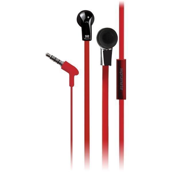 Promate Chrome in-ear headset 20-20kHz 16 Ohm litteä kaapel must