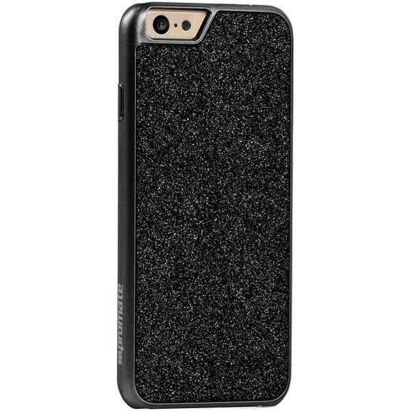 Promate Glare-i6 iPhone 6 kovamuovikuori kimmeltävä takaosa must
