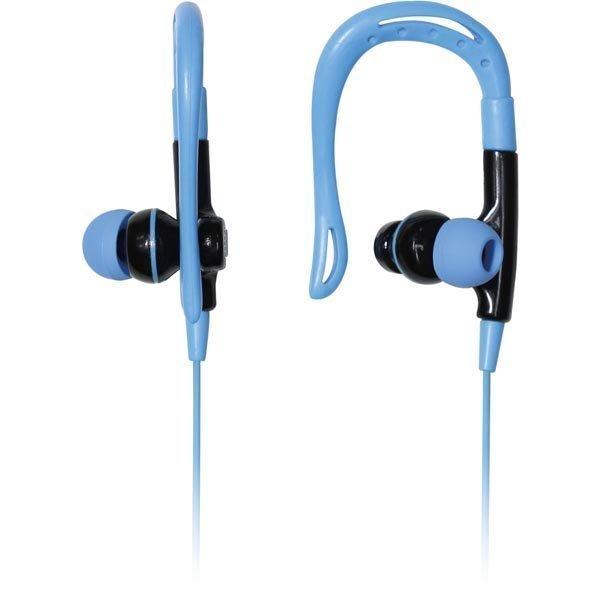 Promate Glitzy Headset behind-the-ear litteä kaapeli sininen