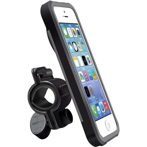 Promate Ride i5 kuori ja pyöräteline iPhone 5 harmaa