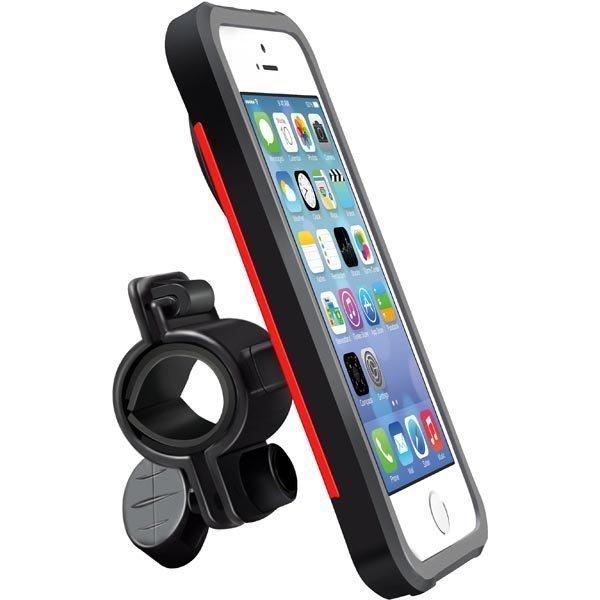 Promate Ride i5 kuori ja pyöräteline iPhone 5 pun